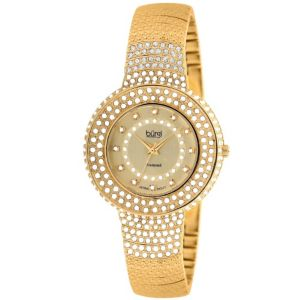 Burgi Multi-Crystal Bracelet-Watch