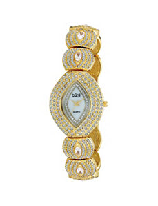 Burgi Multi-Crystal Marquise Watch by PalmBeach Jewelry