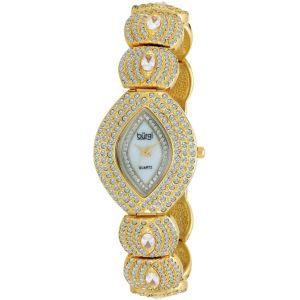 Burgi Multi-Crystal Marquise Watch