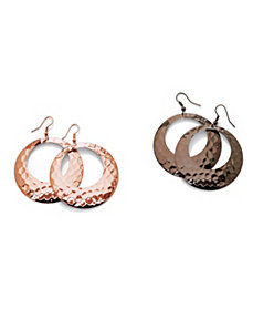 Two Pairs of Hoop Pierced Earrings by PalmBeach Jewelry