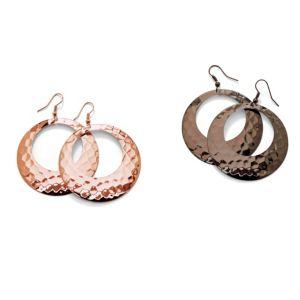 Two Pairs of Hoop Pierced Earrings