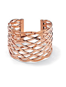 Lattice Cuff Bracelet by PalmBeach Jewelry