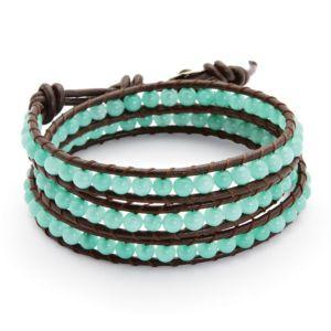 Chalcedony Wrap Bracelet
