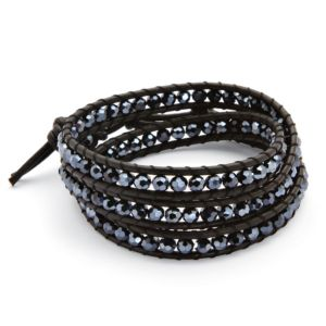 Black Crystal Wrap Bracelet