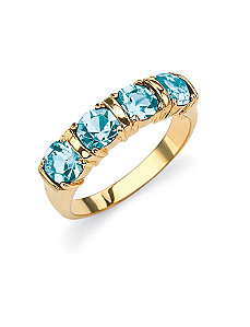 Birthstone Channel Ring by PalmBeach Jewelry