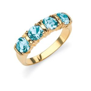 Birthstone Channel Ring