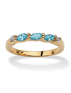 Marquise Birthstone Ring by PalmBeach Jewelry