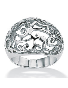 Openwork Dome Ring by PalmBeach Jewelry