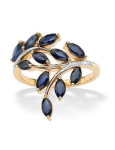 Blue Sapphire & Diamond Accent Ring by PalmBeach Jewelry