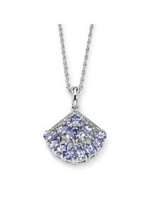 Tanzanite Fan-Shaped Pendant by PalmBeach Jewelry