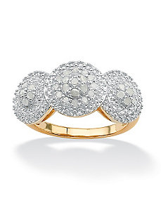 Triple Circle Ice Diamond Ring by PalmBeach Jewelry