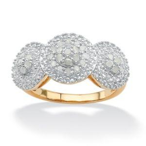 Triple Circle Ice Diamond Ring