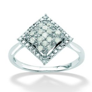 Ice Diamond Square-Shaped Ring