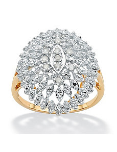 Ice Diamond Open Dome Ring by PalmBeach Jewelry