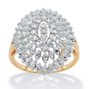 Ice Diamond Open Dome Ring