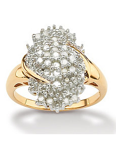 Ice Diamond Cluster Ring by PalmBeach Jewelry