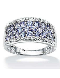 Tanzanite and Diamond Accent Ring by PalmBeach Jewelry
