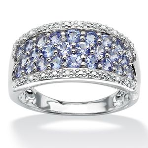 Tanzanite and Diamond Accent Ring