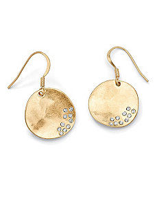 Austrian Crystal Disk Earrings by PalmBeach Jewelry