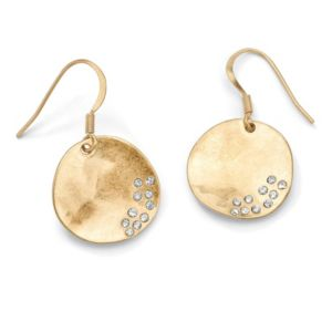 Austrian Crystal Disk Earrings