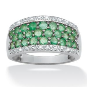 Emerald and Diamond Accent Ring