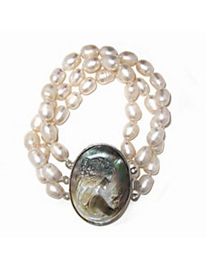 Cultured Freshwater Pearl Bracelet by PalmBeach Jewelry