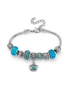 Aquamarine-Colored Crystal Bracelet by PalmBeach Jewelry