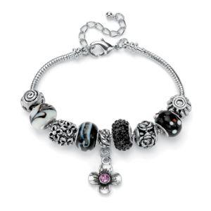 Black & Purple Crystal Bracelet