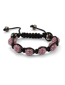 Pink Crystal Ball Bracelet by PalmBeach Jewelry