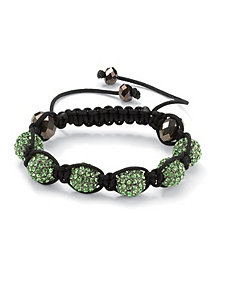 Green Crystal Ball Bracelet by PalmBeach Jewelry