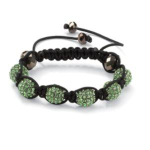 Green Crystal Ball Bracelet