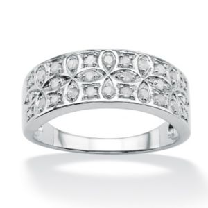 Ice Diamond Cross Loop Ring