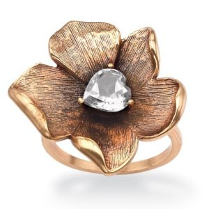 Cubic Zirconia Open Flower Ring