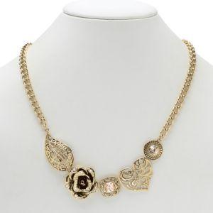 Flower/Heart/Leaf Crystal Necklace