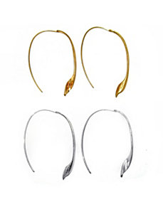 Free-Form Leaf Wire Earrings by PalmBeach Jewelry