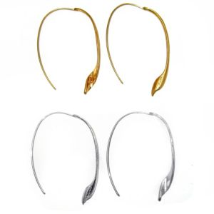 Free-Form Leaf Wire Earrings