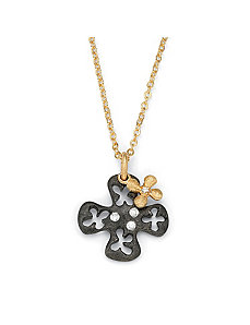 Cross Cutout Pendant and Charm by PalmBeach Jewelry