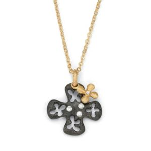 Cross Cutout Pendant and Charm