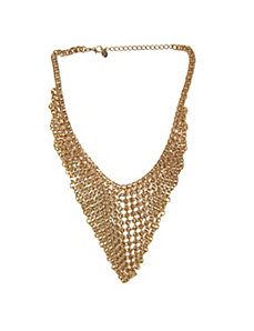 Multi-Chain Bib Chevron Necklace by PalmBeach Jewelry