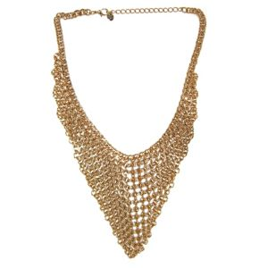 Multi-Chain Bib Chevron Necklace