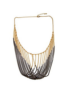 Multi-Chain Draping Bib Necklace by PalmBeach Jewelry