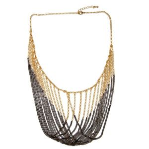 Multi-Chain Draping Bib Necklace