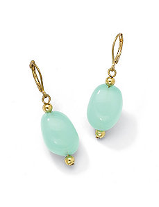 Lab-Created Chalcedony Earrings by PalmBeach Jewelry
