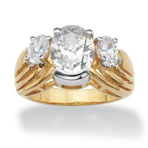 Oval-Cut Cubic Zirconia Ring