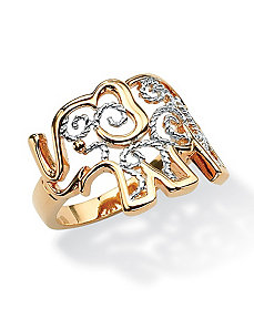 Filigree Elephant Ring by PalmBeach Jewelry