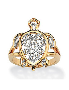Filigree Turtle Ring by PalmBeach Jewelry