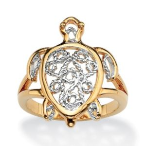 Filigree Turtle Ring