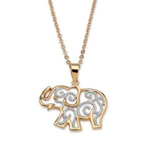 Filigree Elephant Pendant & Chain