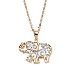 Filigree Elephant Pendant & Chain