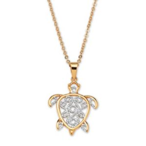 Filigree Turtle Pendant & Chain